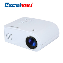 Excelvan X6 Portable Mini Projector LCD Digital Proyector Home Theater Projector With HDMI USB AV VGA SD Interface PK YG300(China)