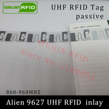 UHF RFID tag Alien 9627 dry inlay 915mhz 900mhz 868mhz 860-960MHZ Higgs3 EPC C1G2 ISO18000-6C smart card passive RFID tags label