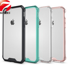 Phone Cases For Apple iPhone 7 Case 4.7'' Crystal Hybrid Bumper Clear Hard Acrylic Back Cover Case for iphone7 Fundas Coque Capa(China)