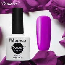 Vrenmol Romantic Nail Design Purple Series Color Gel Lacquer Long Lasting Need Top Base Coat Shining Gel Lak Gelpolish Varnish