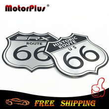 Car Styling 3D Sticker Motorcycle Decal US HISTORIC ROUTE 66 ROAD Sign Emblem Badge SRX Logo For Cadillac Toyota Ford Laptop