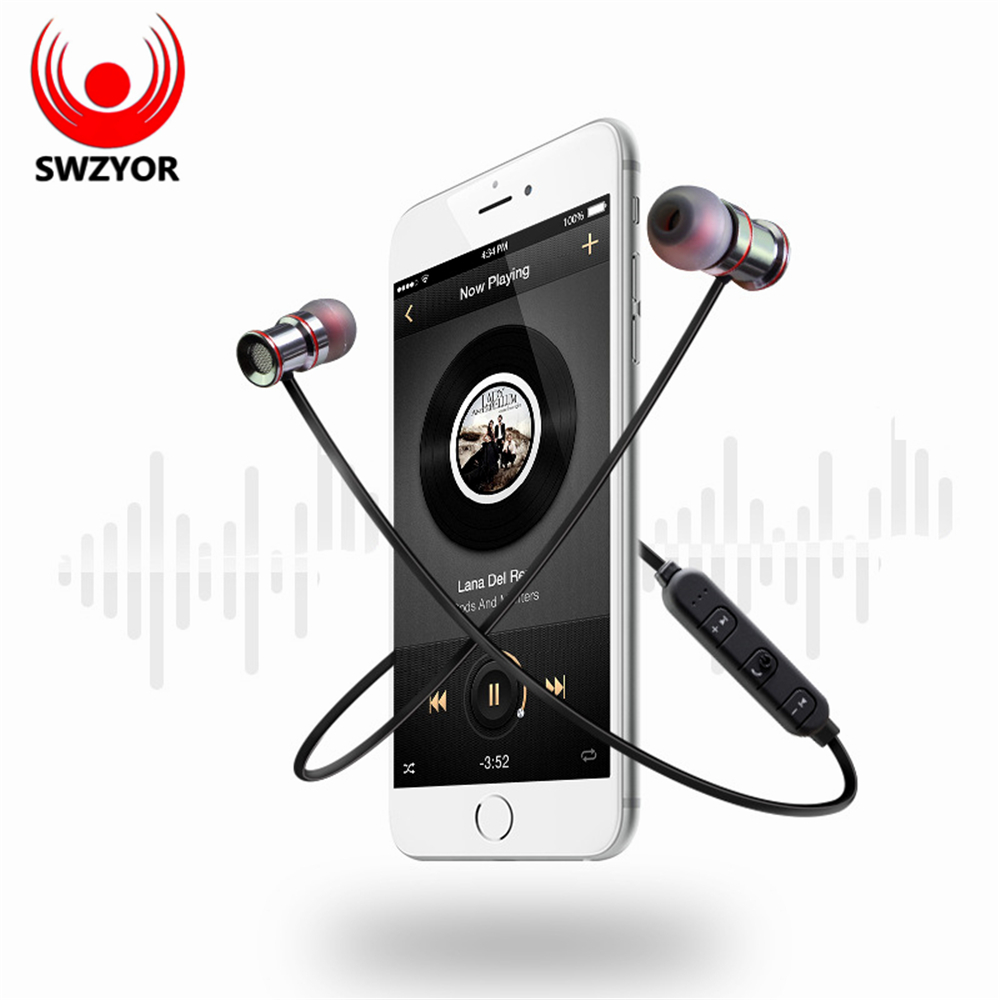 SWZYOR S921 Wireless Bluetooth Earphones Sweatproof Sports Headphone Magnetic absorption Stereo Microphone for Xiaomi Auricula