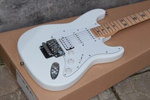 stratocaster highest quality 2015 new ST star inlay white Electric guitar with Floyd Rose Tremolo in Real photos(China)