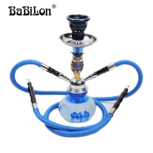 2016 Babilon Premium Alloy Complete Set Red/Blue/Black The owl Small shisha hookah glass smoking pipe Narguile bottle two  hose