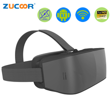 All in one 3D VR Glasses Virtual Reality Google Cardboard Helmet ZV45 Movie Video Box 2560*1440P 2G 16GB 2560*1440 Pixel Android