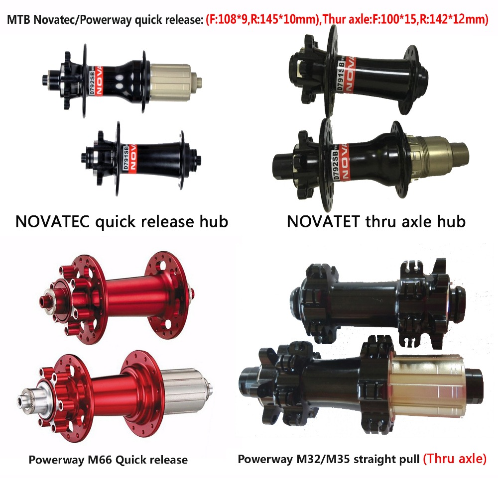 mtb hub Novatec-powerway 445