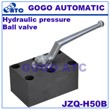 High quality hydraulic pressure ball valve JZQ-H50B 50mm manifold type carbon steel high pressure manual type ball valve