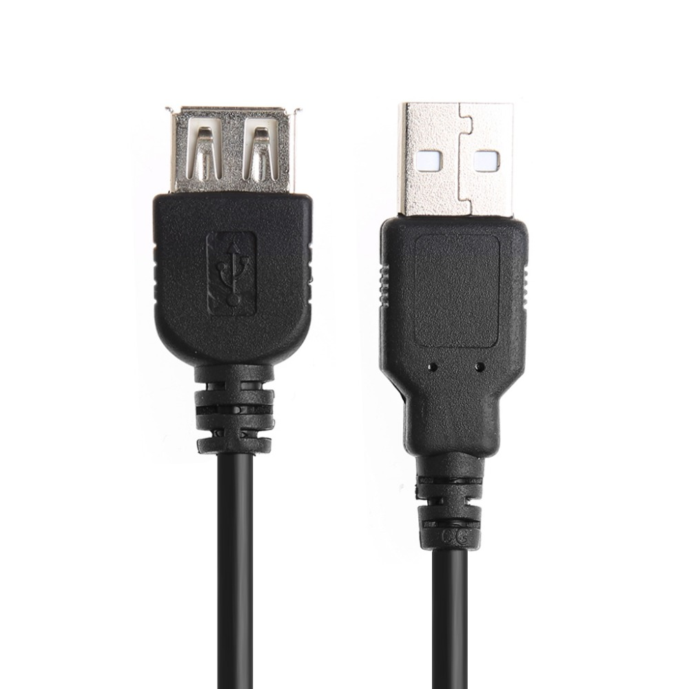 1pcs USB 2.0 Extension Cable Adapter Connector  Extension Cable Type A Female to A Male Cable Cord Extender For Phones