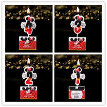 Birthday Cake Candle Minnie Mickey Mouse Party Supplies Candle 1 2 3 4  Anniversary Cake Numbers Age Candle Party Decoration
