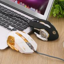 New 3200DPI Optical Adjustable 6D Button Wired Gaming Mouse For PC Laptop, colorful breathing light, Unique Ergonomic, practical(China)