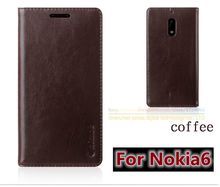 "Original Aimak Brand Top Quality Genuine Leather Stand Fashion Book Style Phone Bag Case For Nokia 6 Nokia6 5.5"" Flip Cover"
