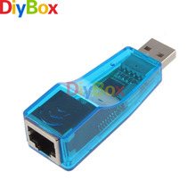 USB 2.0 To LAN RJ45 Ethernet 10/100Mbps Network Card Adapter For Win7 Win8 Android Tablet PC Blue Wholesale(China)