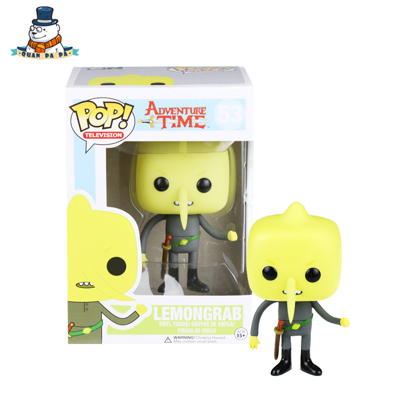 [QuanPaPa] New Genuine FunKo POP Adventure Time Lemongrab 53 Model Action Figurine doll car Decoration kids toys<br><br>Aliexpress