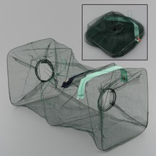 Crab Fish Crawdad Shrimp Minnow Fishing Bait Tackle Cast Dip Net Mesh Hoop Trap Foldable Drop Shipping
