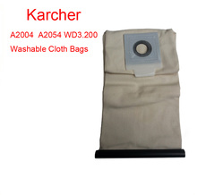 Karcher vacuum cleaner A2054 WD3.200 Washable Cloth Bags vacuum cleaner bag Reuse Pattern Free Shipping