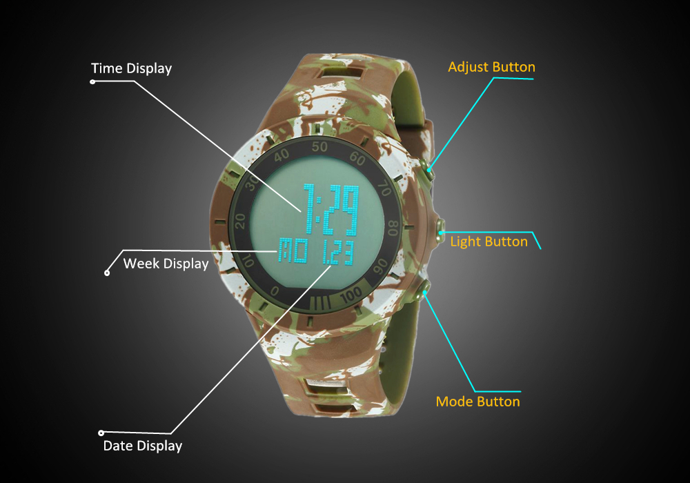 Digital LED Watch Army Green Men Sports Wristwatches Rubber Strap Waterproof Fashion Alarm Watch Clocks Stopwatches Reloj Hombre12