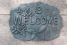Country Outdoor Welcome Metal Door Sign Vintage Cast Iron Welcome Wall Plaque Decoration Ornament Free Shipping