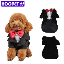 HOOPET Pet Dogs Gentleman Wedding Dress Suits Dog Groom Tuxedo Suit Pet Stylish Suit Bow Tie Formal Party Costume(China)