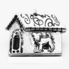 No Design Custom Jewelry newest Pattern Carved enamel silver Dog house Snap Buttons fashion Fit 18/20mm Snap jewelry Bracelets(China)