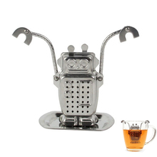 creative Stainless Steel Cute Robot Tea Infuser Manufacturer Direct Recyclable Tea Strainer Tea Tool(China)