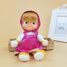 Popular Masha and Bear Plush Dolls High Quality Russian Masha and Bear Stuffed Toys Kids Toys Briquedos Birthday Gifts