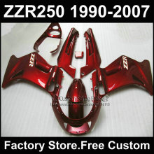 7 gifts custom free fairings set for Kawasaki ZZR-250 ZZR250 1990 1992 2007 ZZR 250 90-07 dark red motorcycle fairing body kits