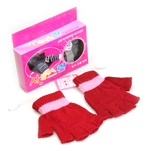 Box loading usb hand warmer heated gloves five fingers(China)