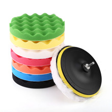 "10 in 1 Set Car Polishing Buffing Pad Kit 7"" Polishing Buffing Waxing Pad Kit Tool For Car Polisher Buffer With Drill Adapter"
