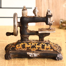 Retro Sewing Machine Decoration Resin Artware Model Sewing Machine Crafts Costume Shop Furniture Ornaments Decorative Crafts