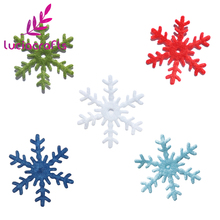 Lucia Crafts 48pcs/144pcs Snowflake Hanging Christmas Tree/Window DIY Decorations Assorted 3cm Non-woven Motif Felt 14010322(China)
