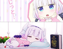 Animal Hot Miss Kobayashi's Dragon Maid Cosplay Kanna Kamui Sleeping position Plush Doll Toy Stuffed Gift Free Shipping(China)