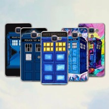 Tardis Bad Wolf doctor who Telephone booth design hard transparent Case for Samsung Galaxy A7 2016 A8 A9 A7 A3 A5 2017