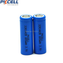 x 14430 600mah ICR14430 Li-Ion rechargeable Battery 3.7v Liion Lithium Batteria Low self discharge Batteries - Shenzhen Pkcell Co., Ltd. store
