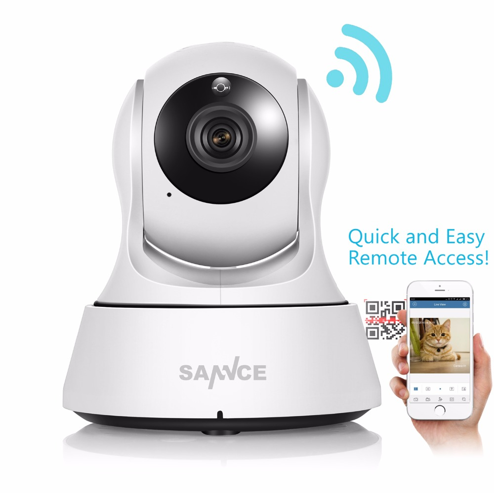 SANNCE HD 720P IP Camera Wi-Fi CCTV Cam Security Network Kamera WiFi Wireless IP kamery Baby Monitor Audio QR CODE Scan Connect<br>