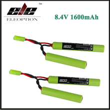 2x 2/3A 8.4V 1600mAh Ni-MH Butterfly NunChuck Battery Pack with Mini Tamiya Connector for Mini AK Series Airsoft AEG Guns(China)