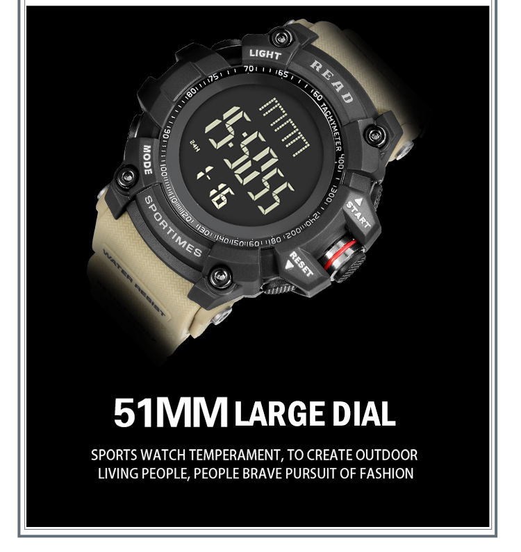 luxury brand READ LED digital wristwatches for men waterproof shock resist military watch free shipping 2018 (13)