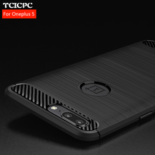TCICPC Oneplus 5 case Oneplus 5T case silicone Luxury armor cases for one plus 5 T Oneplus 5T Brushed silicon TPU back cover(China)