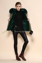 New coming blackish green luxury collar ladies parka coats online shopping winter warmer jacket(China)