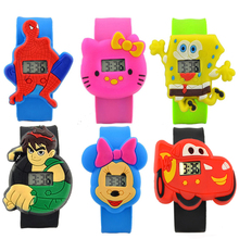 19 Colors Fashion Kids Slap Watches Children Cartoon Watch Silicone Kids Watch Christmas Gift Sports High Quality(China)