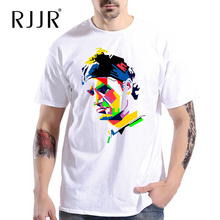RJJR Swiss Roger Federer art man short sleeve T-shirt Top Cotton Men T shirt New DIY Style for summer free shipping