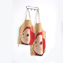 Fashion Mother and Daughter Apron Cute Cat Vintage Retro Apron Kitchen Kids Cooking Painting  Vintage Apron Avental