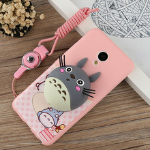 Meizu M5 3D Silicone Case Cute Cartoon Animal Rabbit Bear Totoro Stand Holder Earphone Wire Winder Silicon Back Cover - MilkBear store