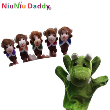5 Sets wholesale 6pcs/set The nursery rhyme finger puppets: Five Little Monkeys Swing In A Tree(China)
