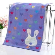 Drying Hand Towels Kids Children Cotton Washcloths Baby Bibs Muslin Fish Letter Rabbit Wash Towel 3 Styles 25*50cm