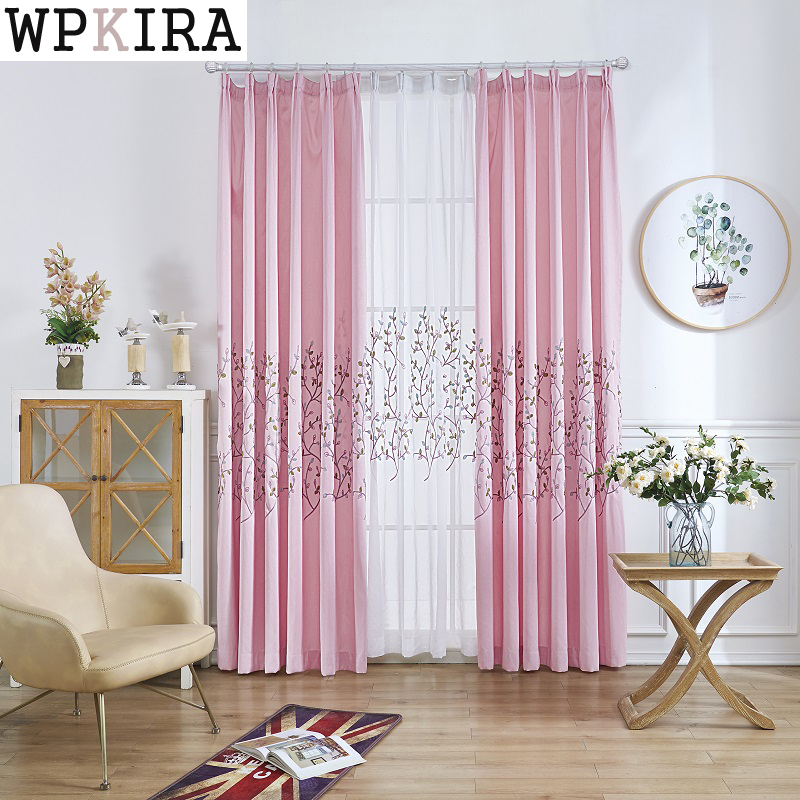 Custom made morden blackout curtain+voile sheer tulle curtains for ...