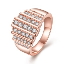 The European and American creative full drill ring 18k gold/rose gold/platinum plated fashion Jewelry for women