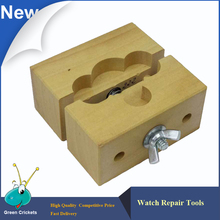 Adjustable Wooden Watch Movement Holder For Watch Battery Replacement Watchmaker Vise Watch Case(China)