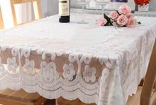 1pcs/set New Arrival Table Cloth White Hollow Lace Tablecloth Decorative Elegant Table Cloth Table Cover
