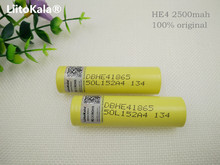 2pcs original he4 2500mah lithium ion 18650 battery for LG 3.7v power batteries 20a 35a download electronic cigarette battery