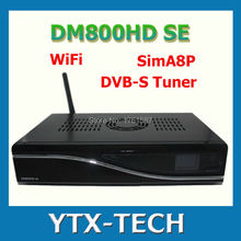 NEW ARRIVAL! dm800se wifi Sim A8P HDTV  digital satellite receiver hd Linux Operating System,DVB-S2 free shipping